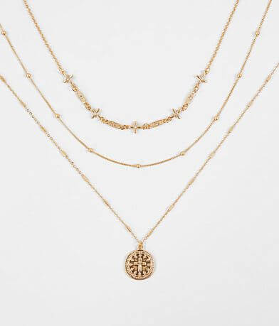 BKE Dainty Trio Necklace Set