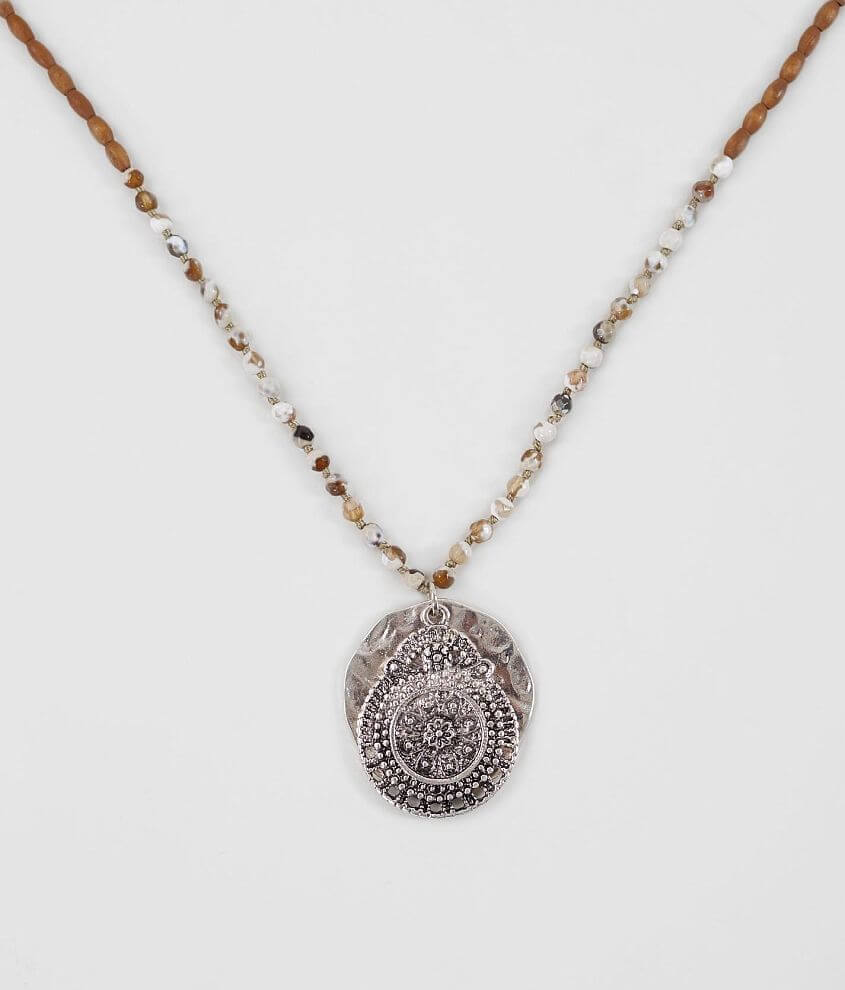 BKE Beaded Pendant Necklace front view