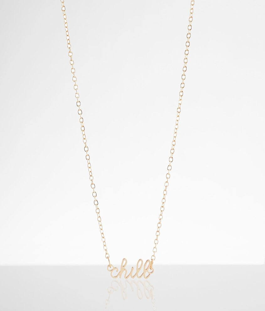Script pendant necklace Length measures 19\\\