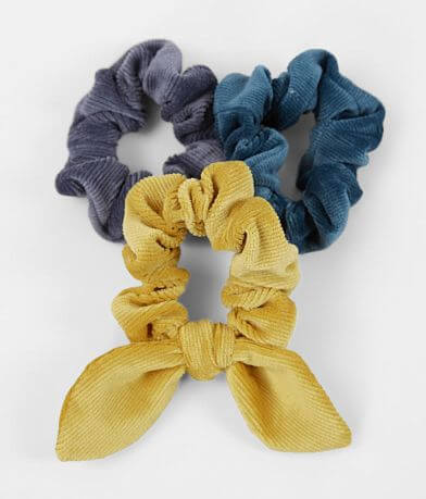 3 Pack Corduroy Hair Scrunchies