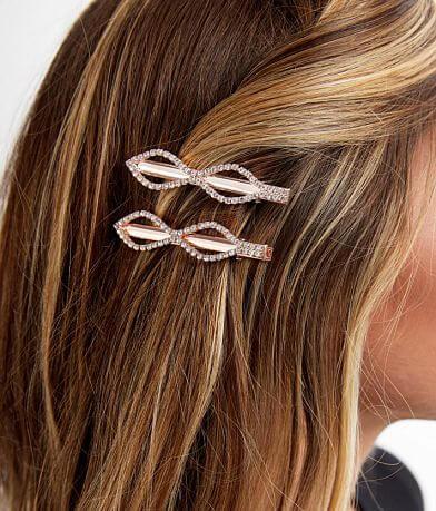 BKE 2 Pack Glitz Barrette Hair Clips
