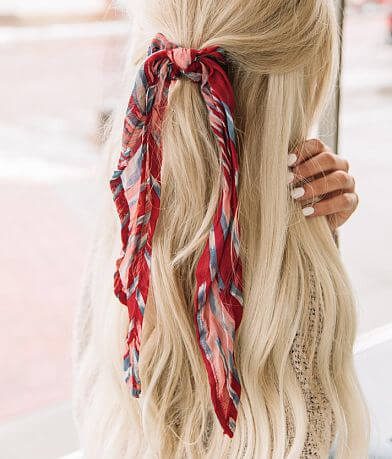 Printed Hair Scarf Scrunchie