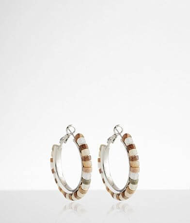 BKE Beaded Hoop Earring