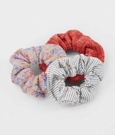 3 Pack Knit Hair Scrunchies