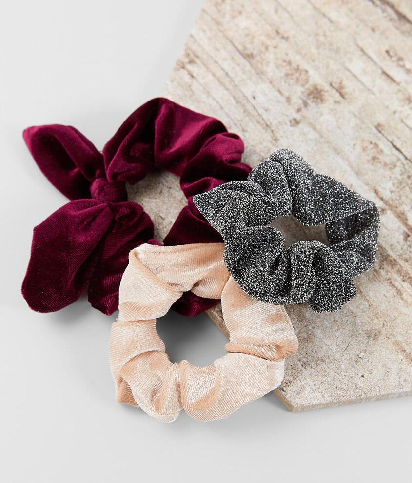 BKE 3 Pack Assorted Hair Scrunchies front view