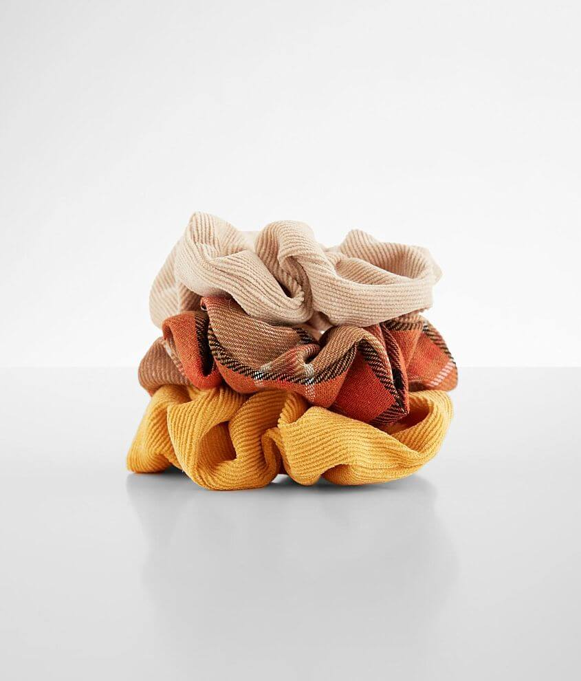 3 Pack Hair Scrunchies front view