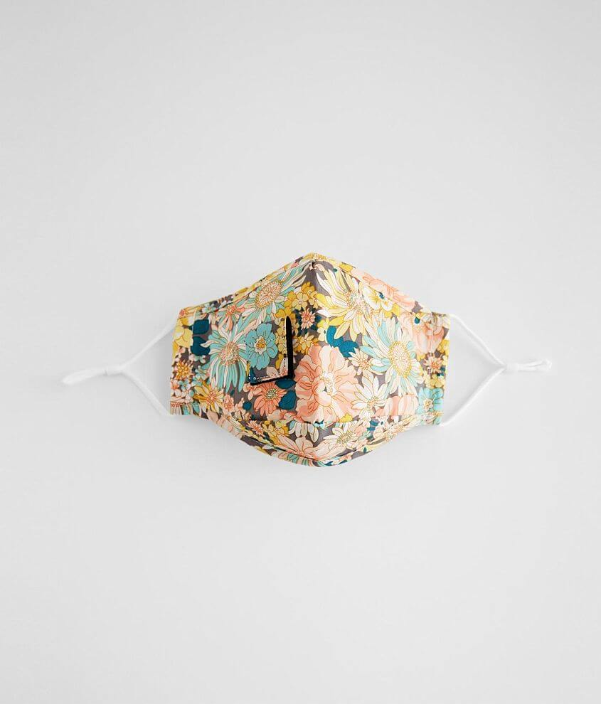 Girls - Floral Woven Face Mask front view