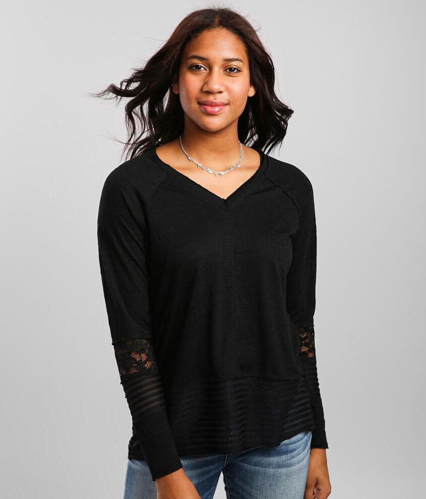 Daytrip Lace Inset Top front view