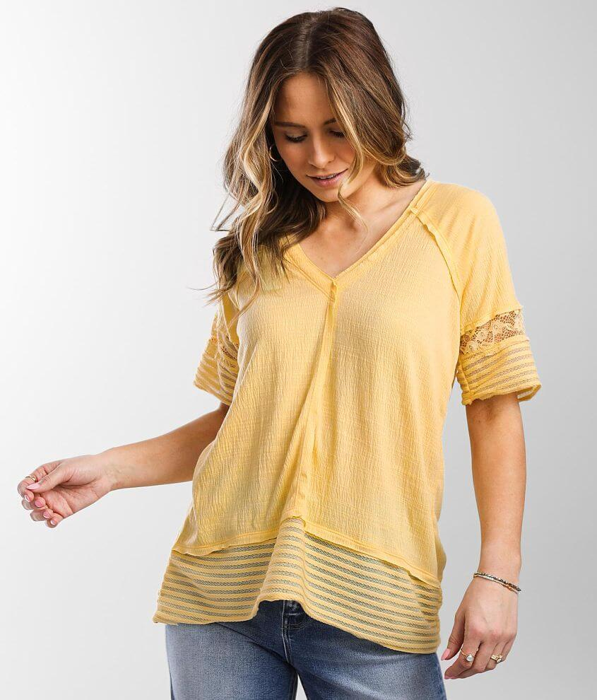 Daytrip Textured Knit Top front view