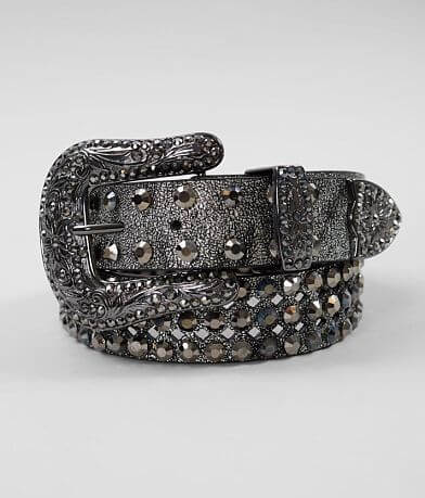 BKE Laser Cut Studded Leather Glitz Belt