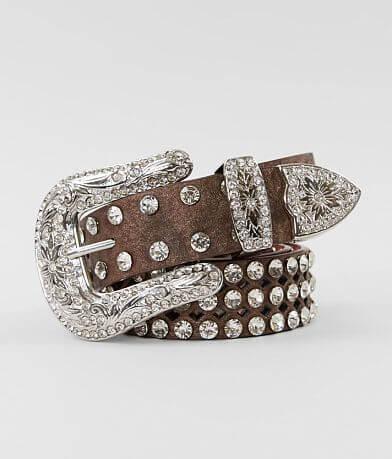 BKE Metallic Glitz Leather Belt