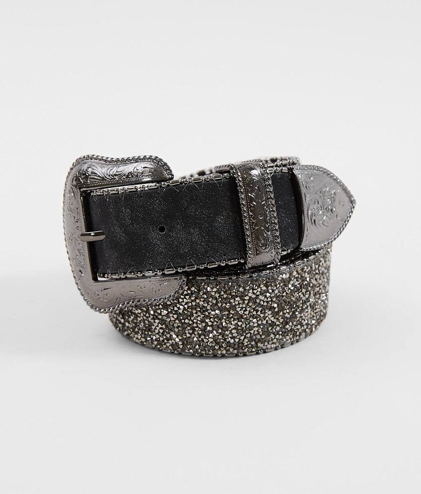 BKE Micro Glitz Leather Belt front view