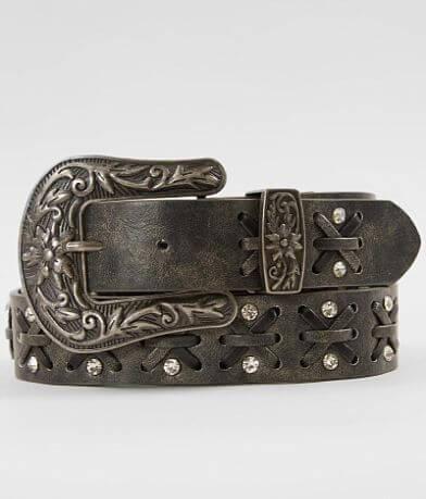 BKE Criss Cross Leather Belt