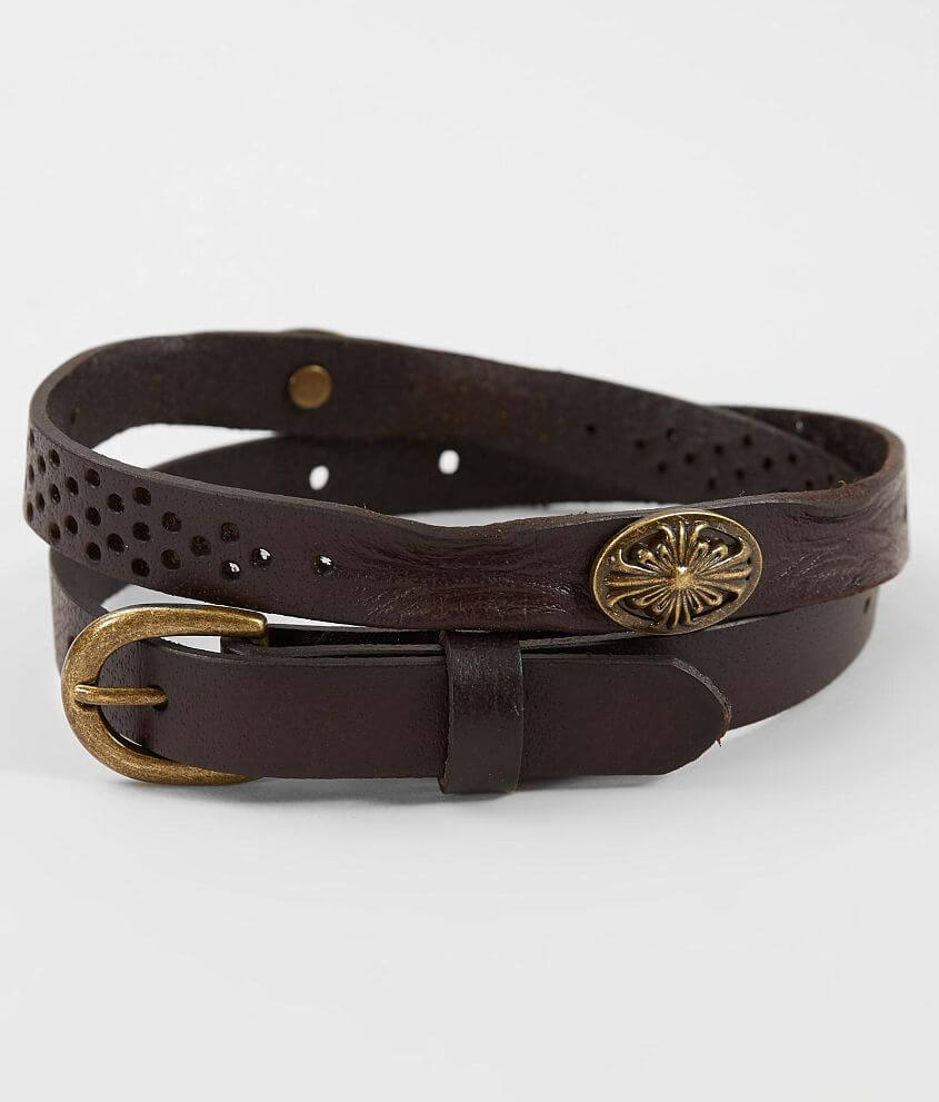 BKE Leather Conch Belt front view