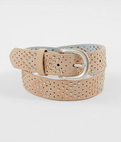 BKE Chevron Studded Leather Belt