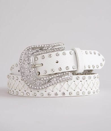 BKE Glitz Whipstitch Leather Belt