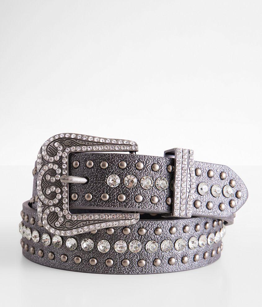 BKE Metallic Leather Belt front view