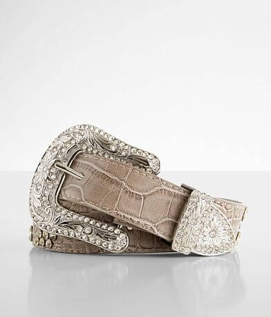 BKE Embossed Glitz Leather Belt