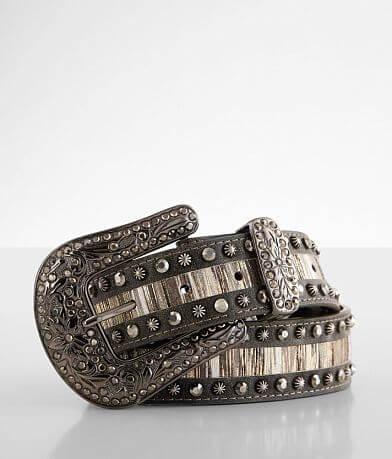 BKE Metallic Striped Leather Belt