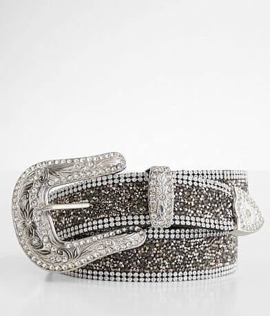 BKE Glitz Metal Stud Leather Belt