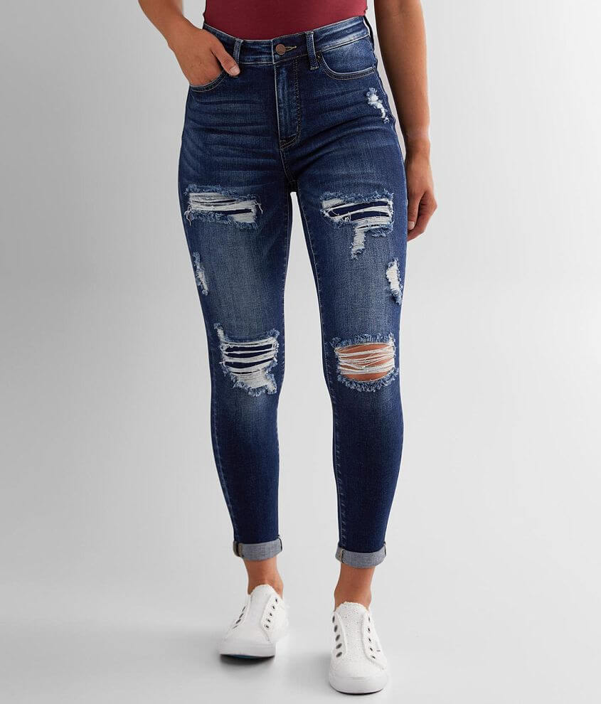 BKE Parker Ankle Skinny Stretch Cuffed Jean front view