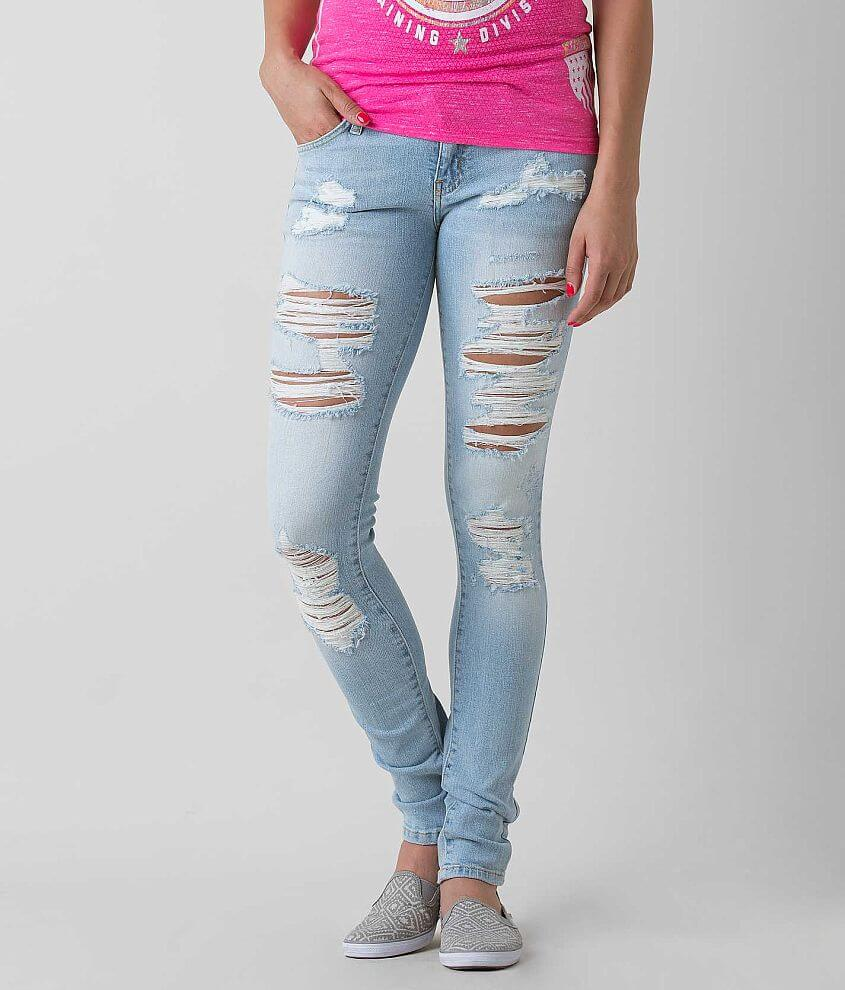 KanCan Low Rise Skinny Stretch Jean front view