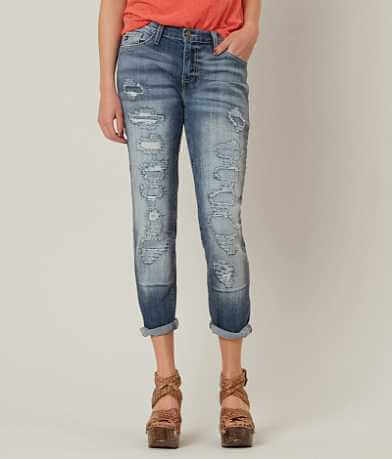 KanCan Low Rise Boyfriend Stretch Cropped Jean
