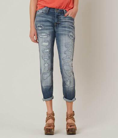 KanCan Low Rise Boyfriend Stretch Cropped Jean