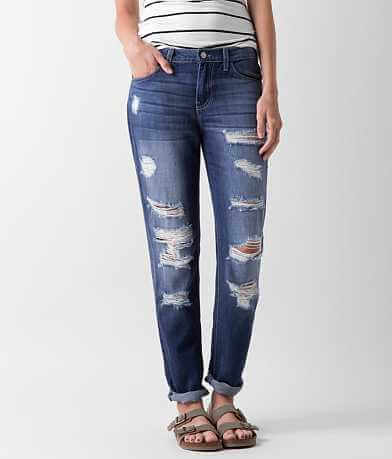 KanCan Low Rise Boyfriend Cropped Jean