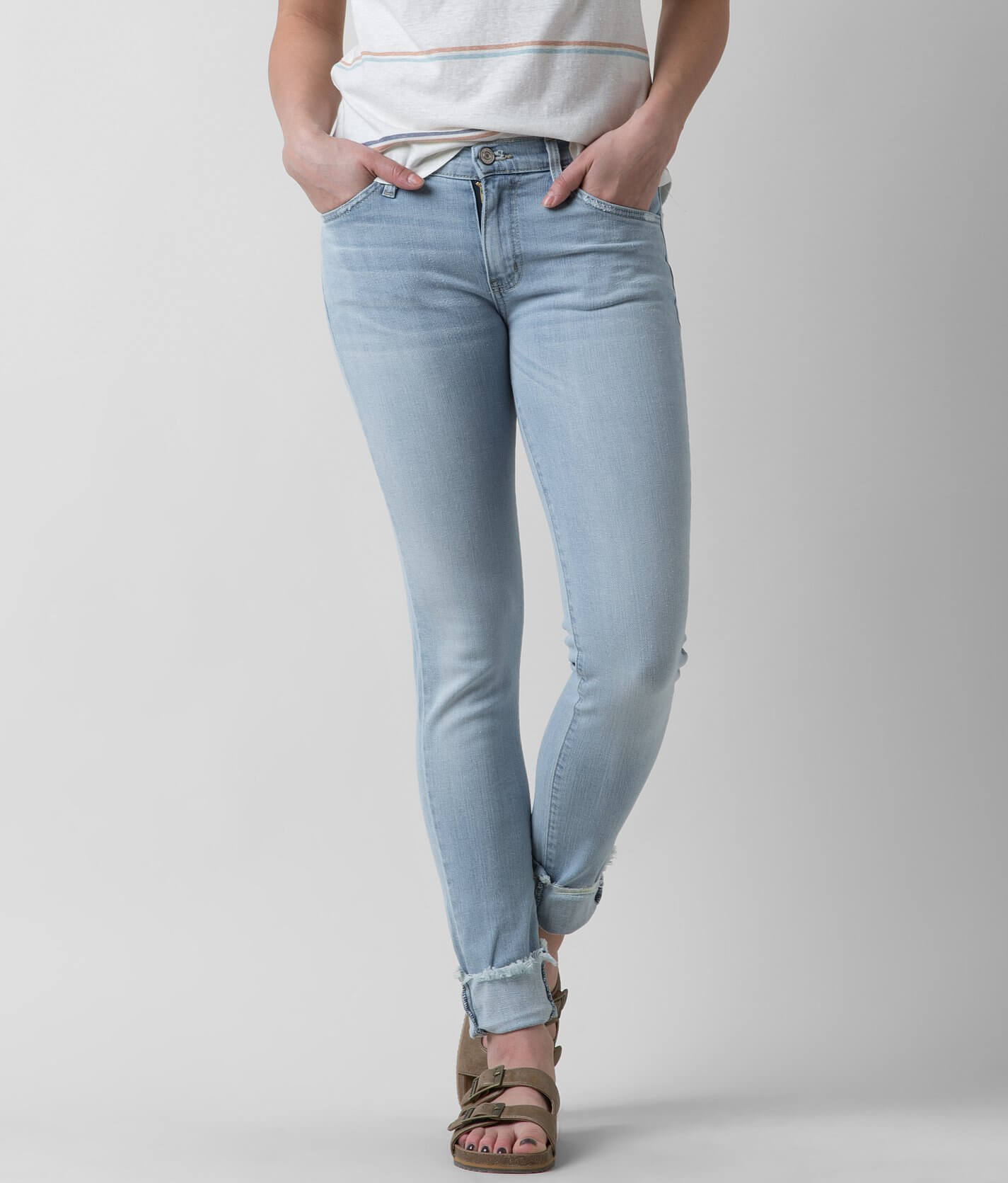 Hot KanCan Mid-Rise Skinny Stretch Cropped Jean