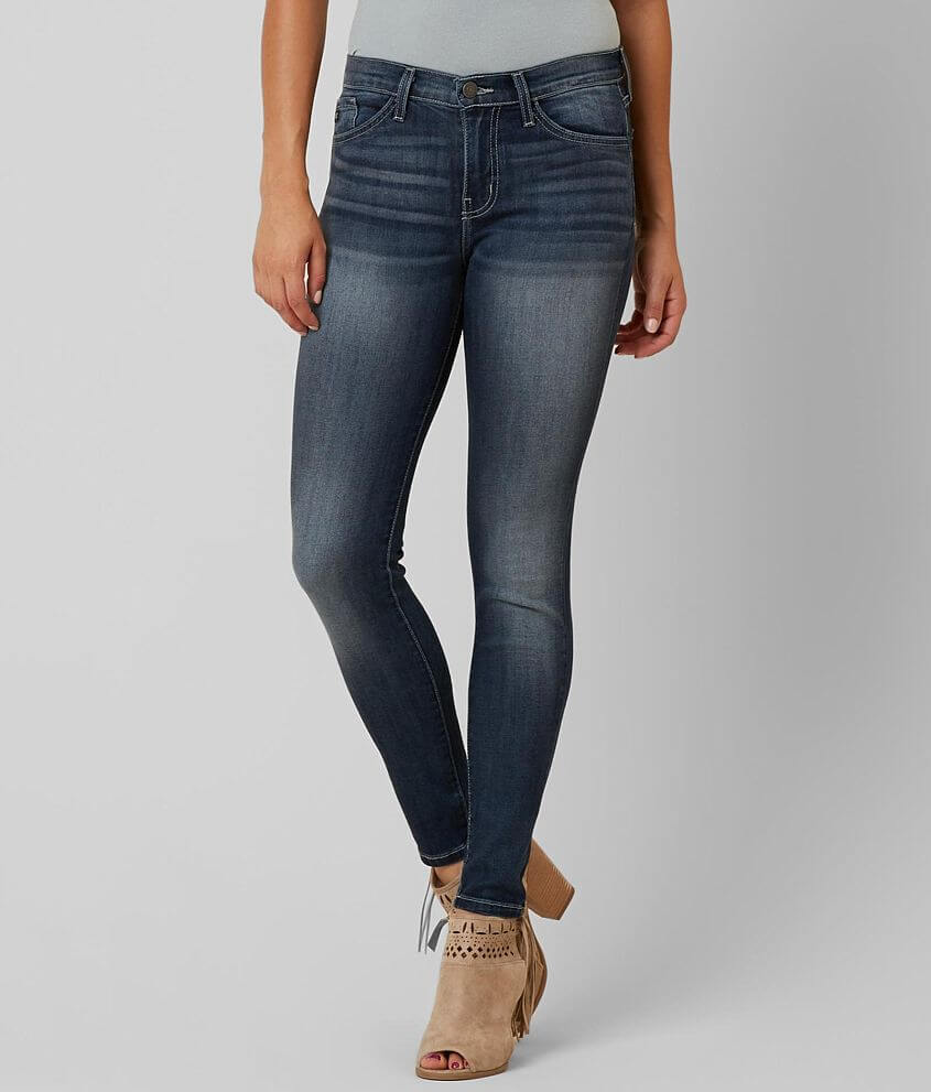 KanCan Mid-Rise Skinny Stretch Jean front view