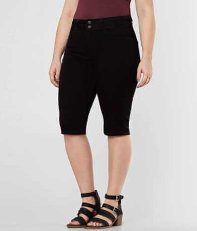 KanCan Kurvy High Rise Bermuda Stretch Short