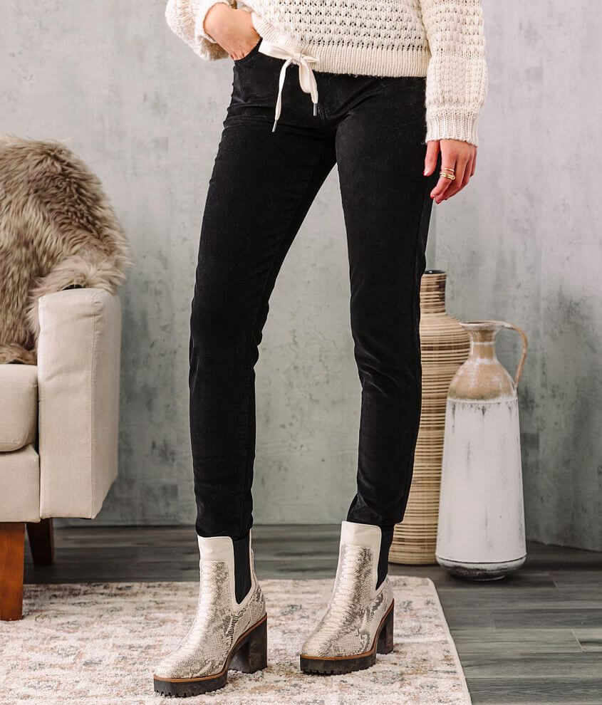 KanCan High Rise Corduroy Ankle Skinny Pant front view
