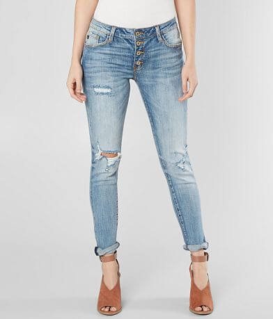 KanCan Mid-Rise Ankle Skinny Girlfriend Jean