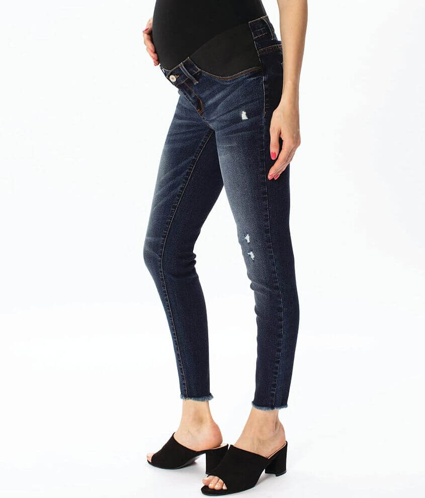 KanCan Maternity Ankle Skinny Stretch Jean front view
