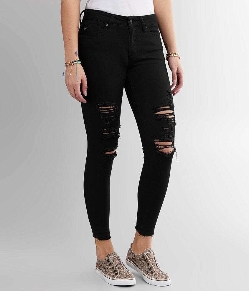 KanCan Mid-Rise Ankle Skinny Stretch Jean front view