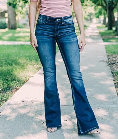 KanCan High Rise Flare Stretch Jean