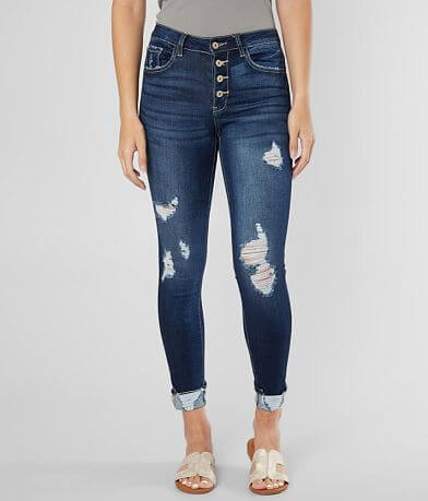 KanCan Mid-Rise Ankle Skinny Stretch Cuffed Jean