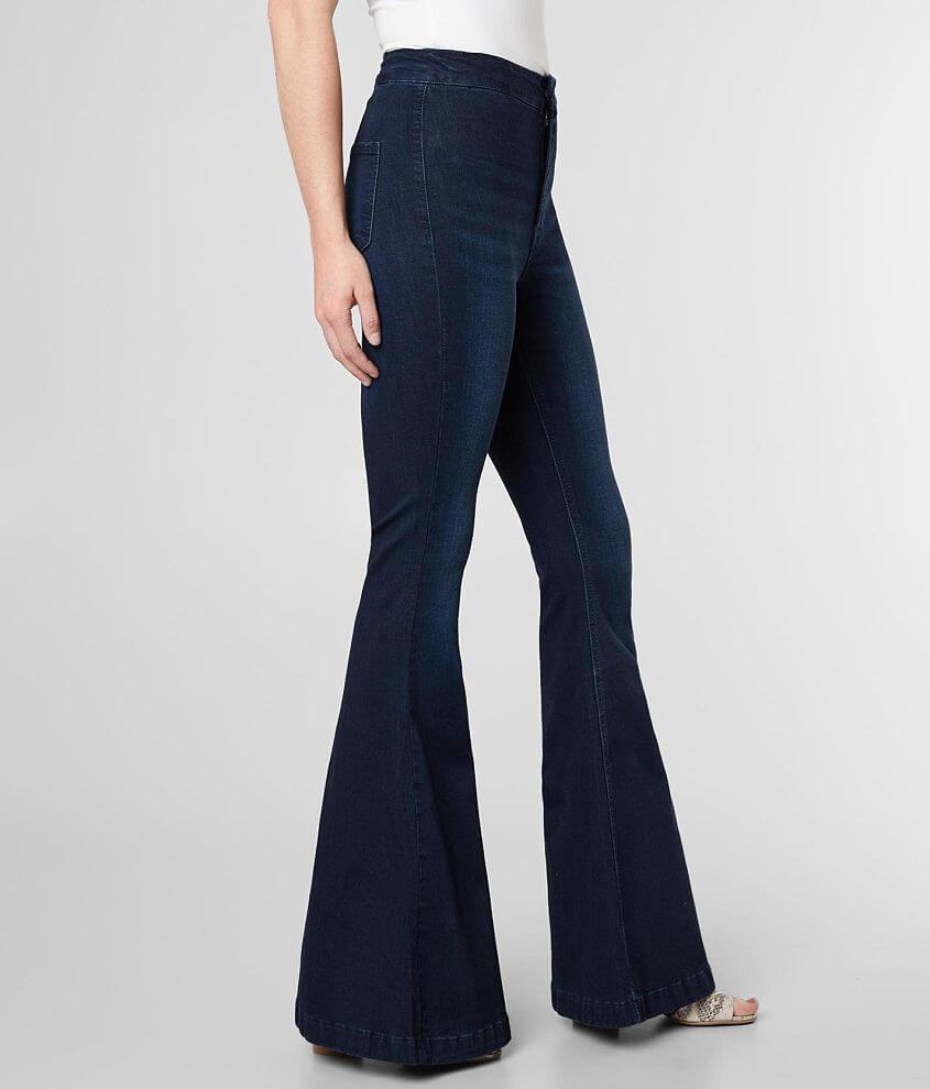Kancan Ultra High Super Flare Stretch Jean Women S Jeans In Dk St Buckle