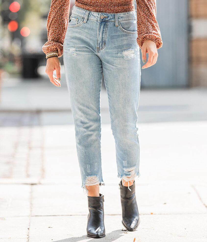 KanCan High Rise Relaxed Taper Jean front view