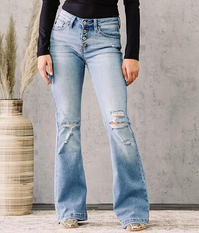 KanCan Mid-Rise Flare Stretch Jean