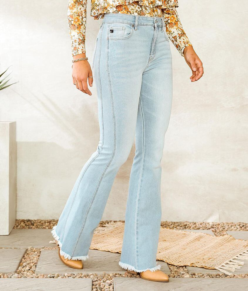 KanCan High Rise Curvy Flare Stretch Jean front view