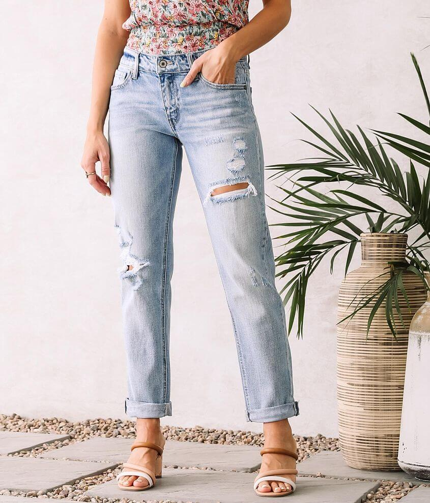 KanCan Mid-Rise Relaxed Ankle Jean front view