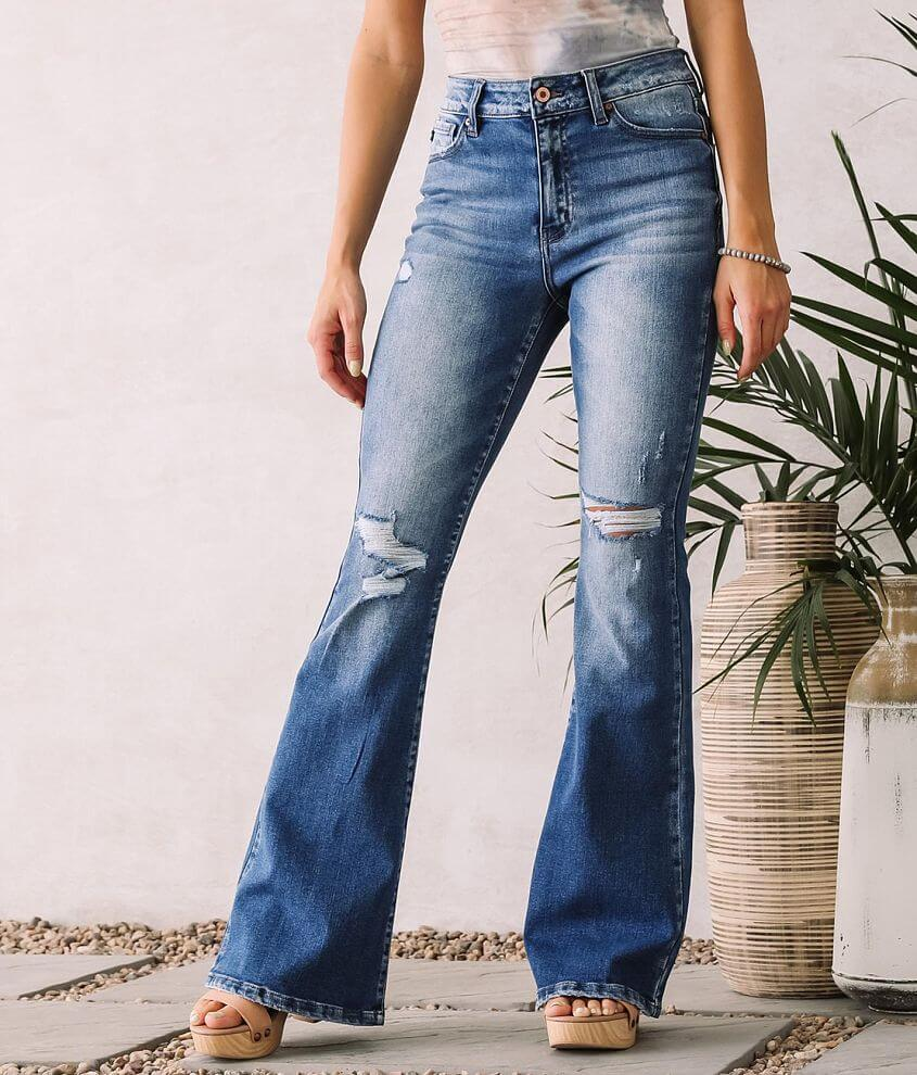 KanCan High Rise Flare Stretch Jean front view