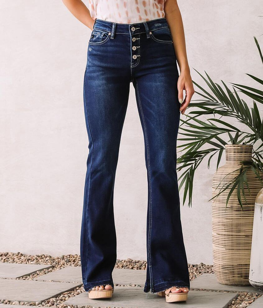 KanCan Mid-Rise Flare Stretch Jean front view