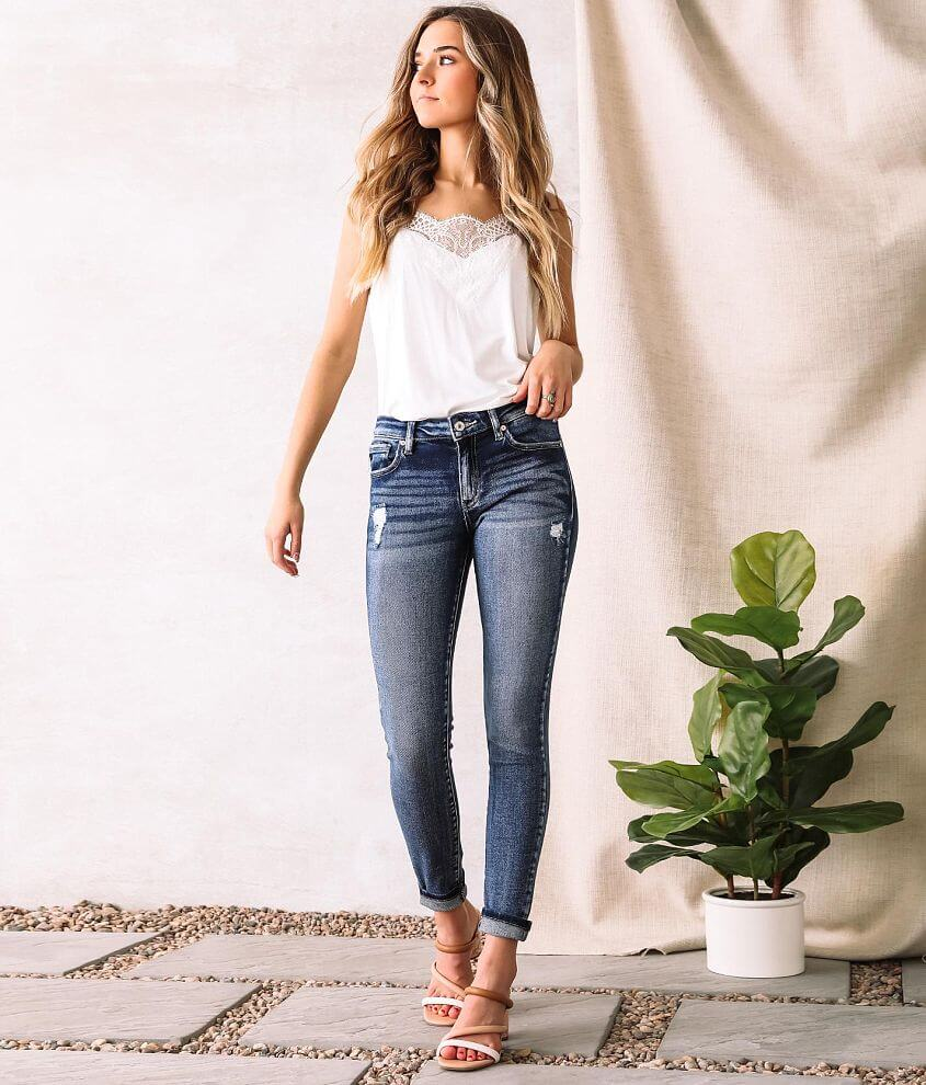KanCan Mid-Rise Super Skinny Stretch Jean front view