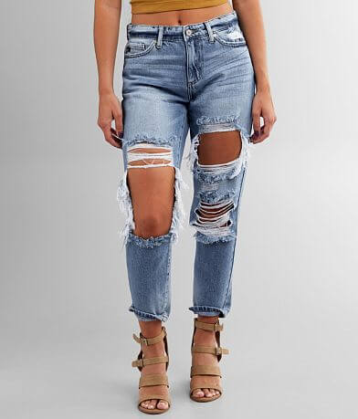 KanCan High Rise Relaxed Taper Jean