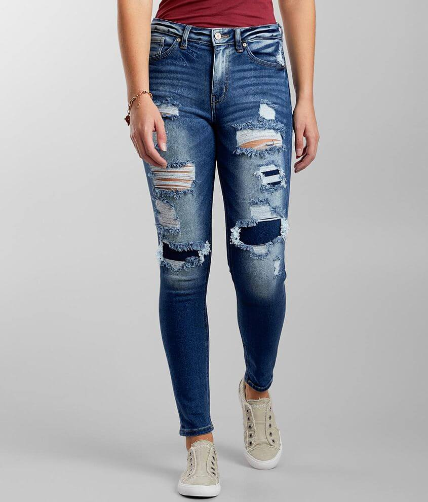 KanCan High Rise Skinny Stretch Jean front view