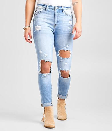 KanCan High Rise Relaxed Taper Stretch Jean