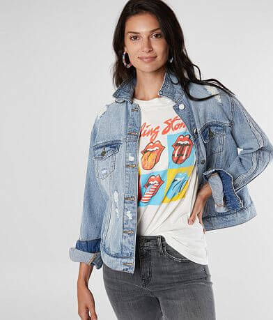 KanCan Destructed Denim Jacket